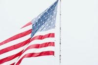 flag of USA on pole