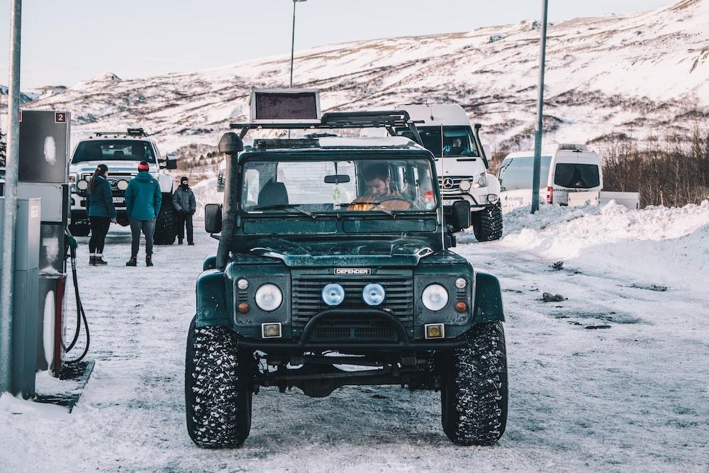 green off-road SUV