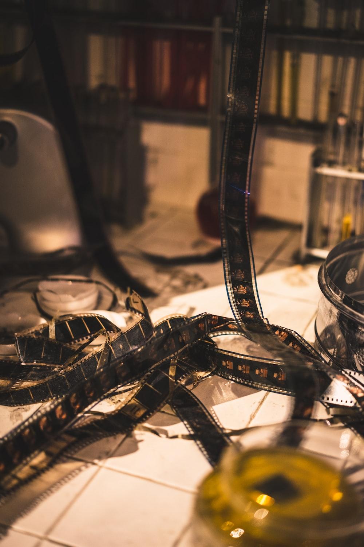 film tape on floor