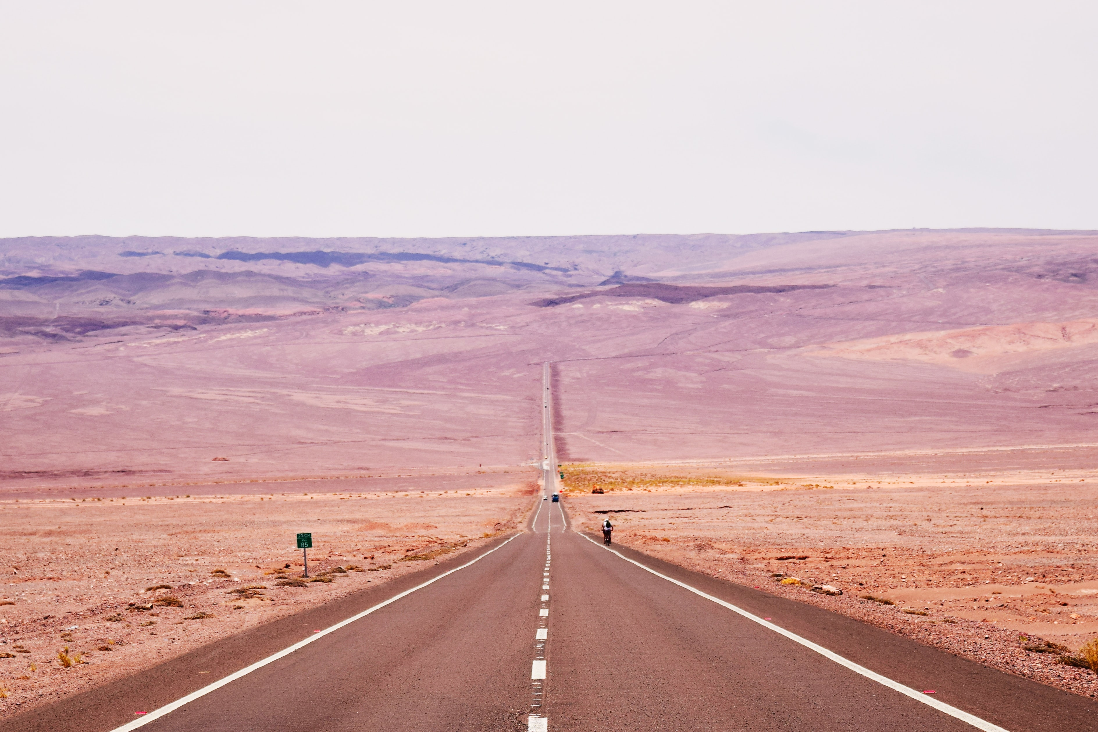 landscape photography of brown wide road