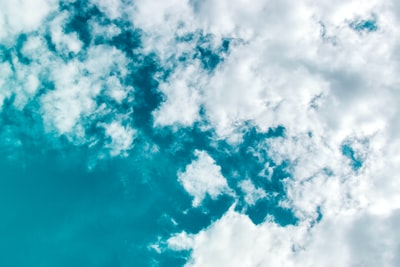photo of clouds turquoise zoom background
