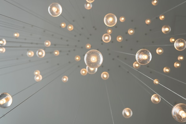 Creative Informatics Challenge Projects. low angle photography of drop lights