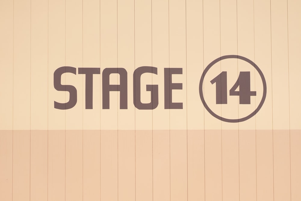 Stage 14 text overlay