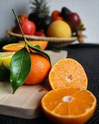 tangerines selective focal photo