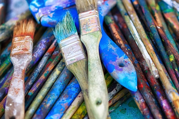 Brushes on the street: San Francisco