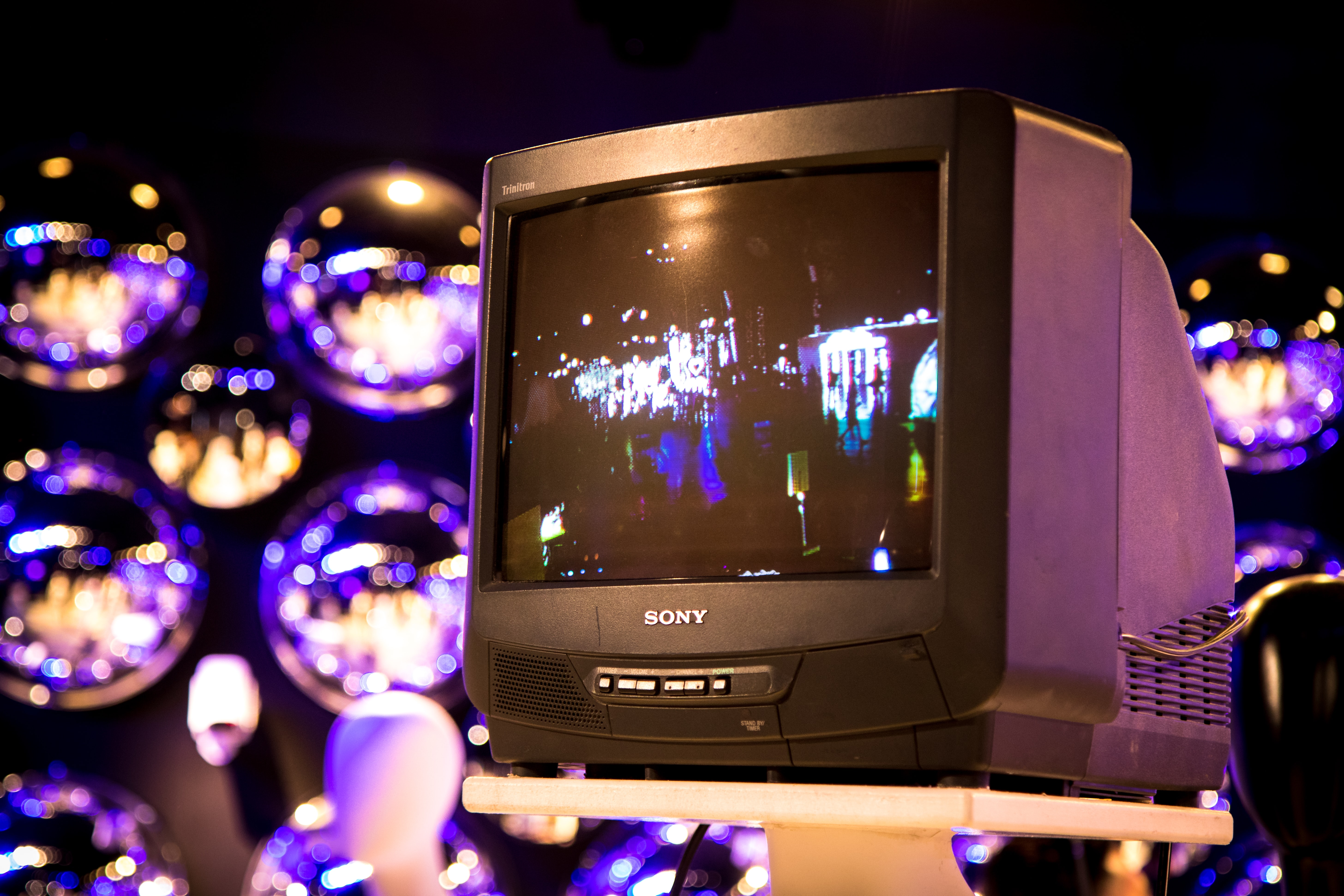 close-up photo of Sony CRT television