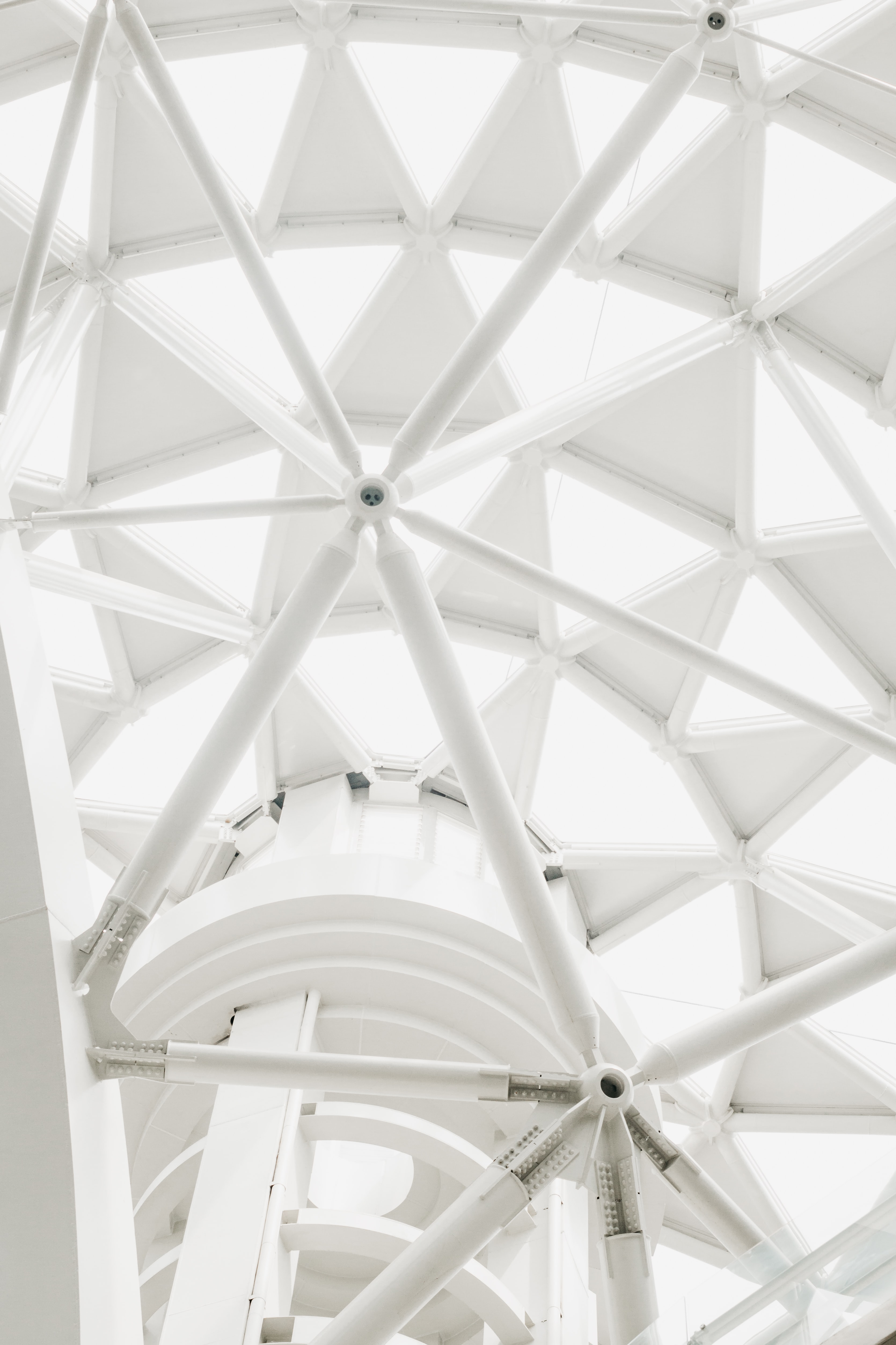ceiling of architecture building