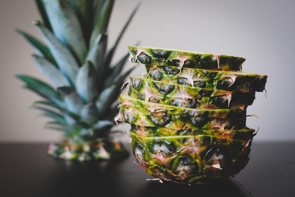 macro photography of pineapple fruit