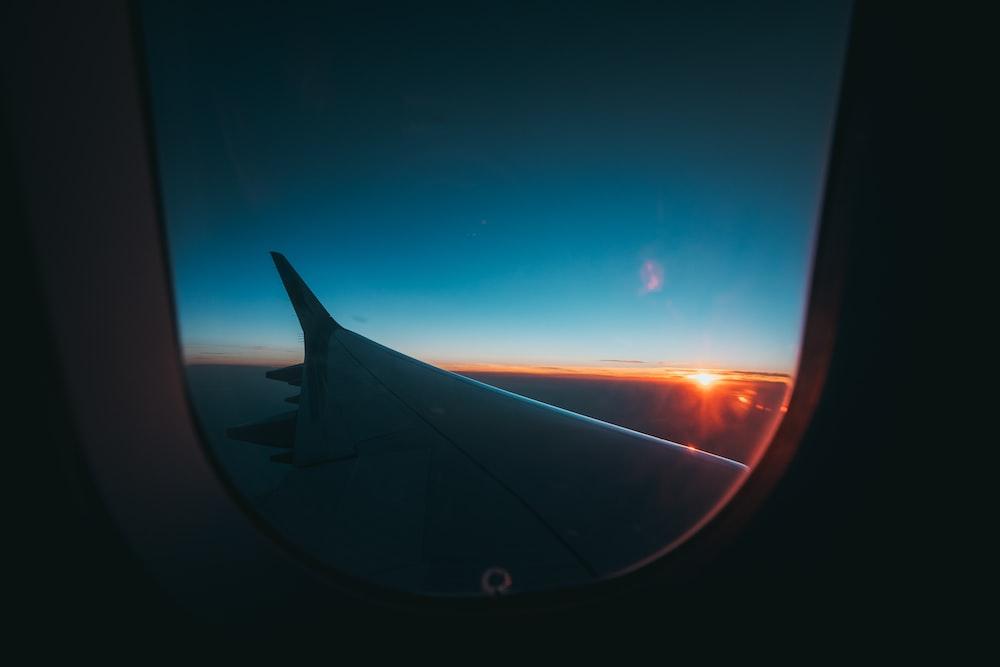aircraft wingtip photography during golden hour