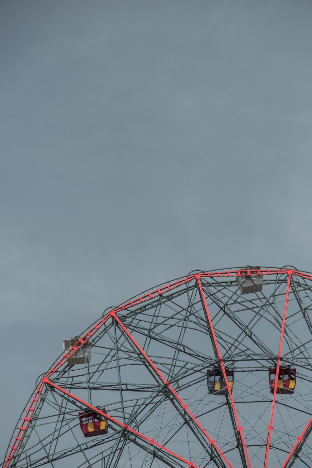 pink and gray Ferris Wheel photo