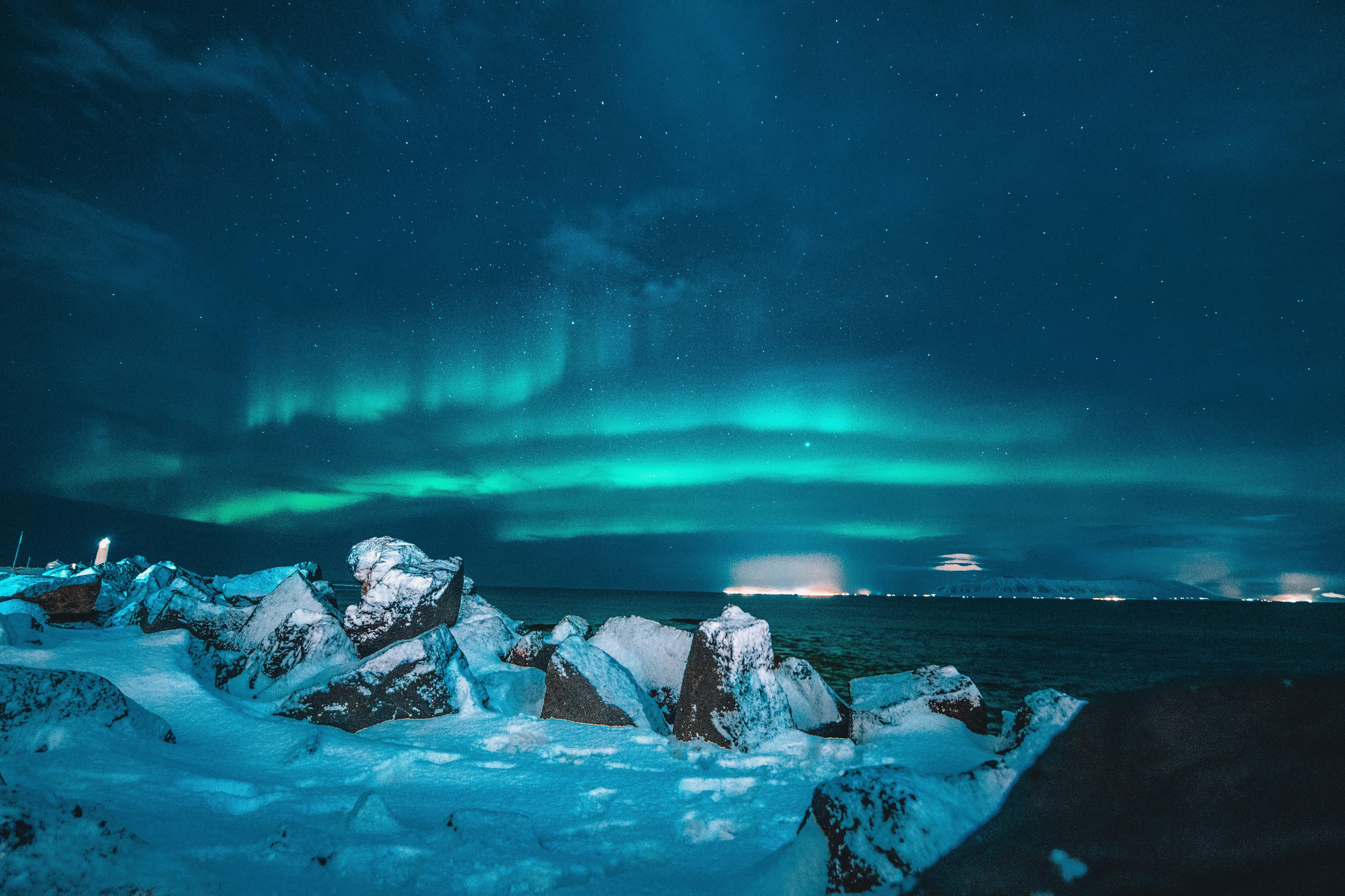 Landscape P O Of Aurora Lights