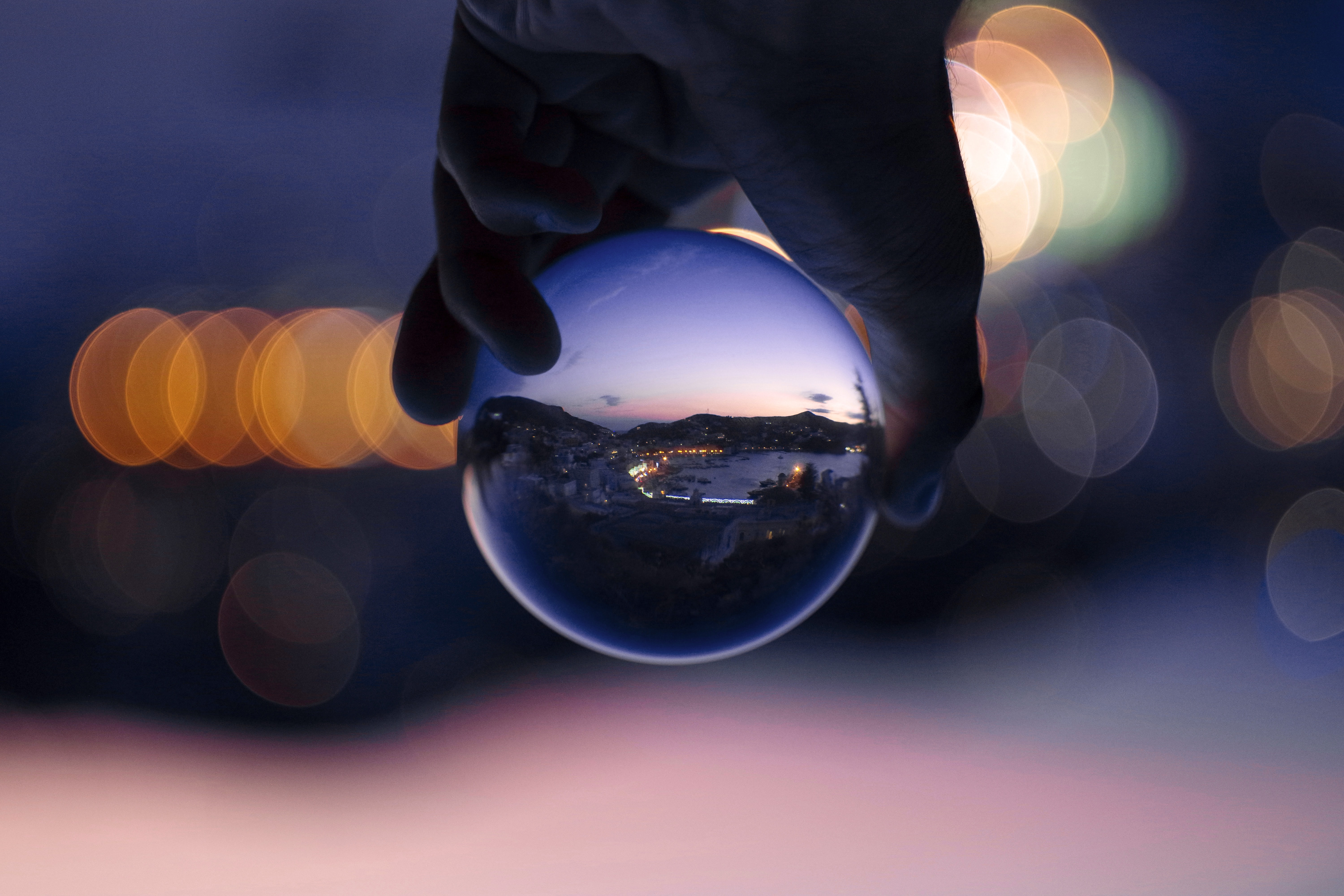 person holding baoding ball