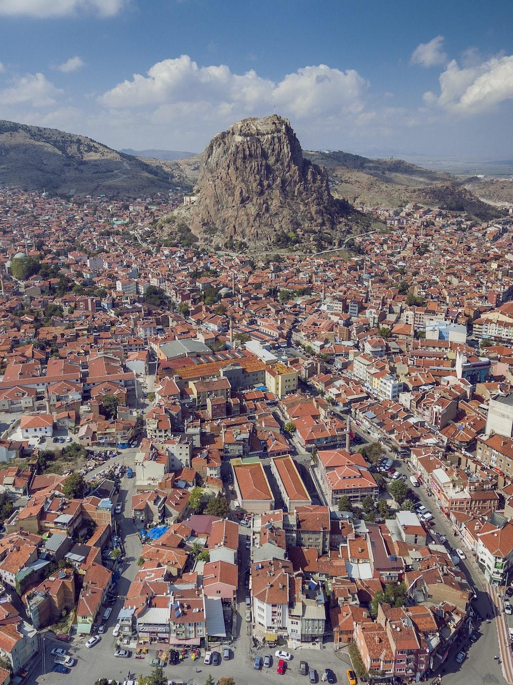bird's-eye-view photography of city