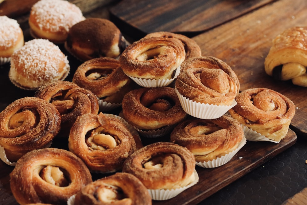 bunch of cinnamon swirl bread