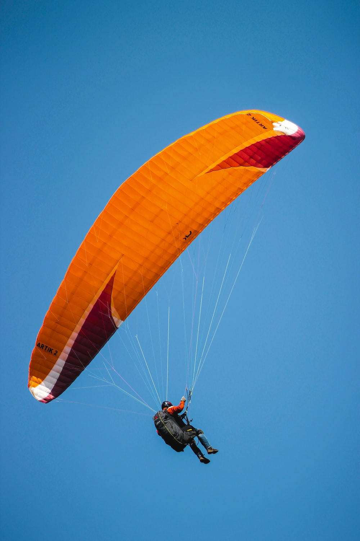 person paragliding