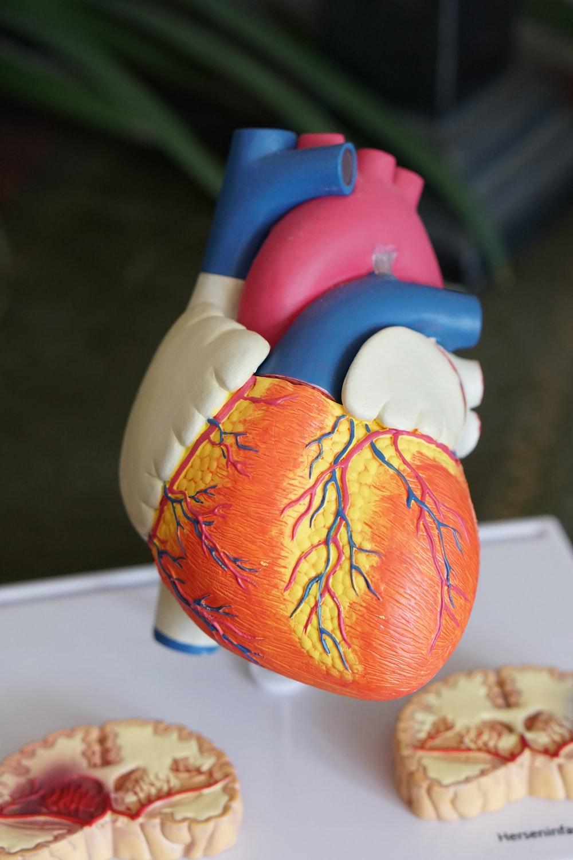 orange heart decor