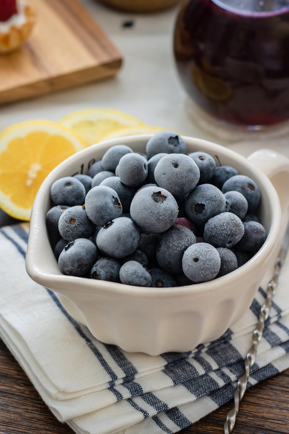 blueberry in ramekin