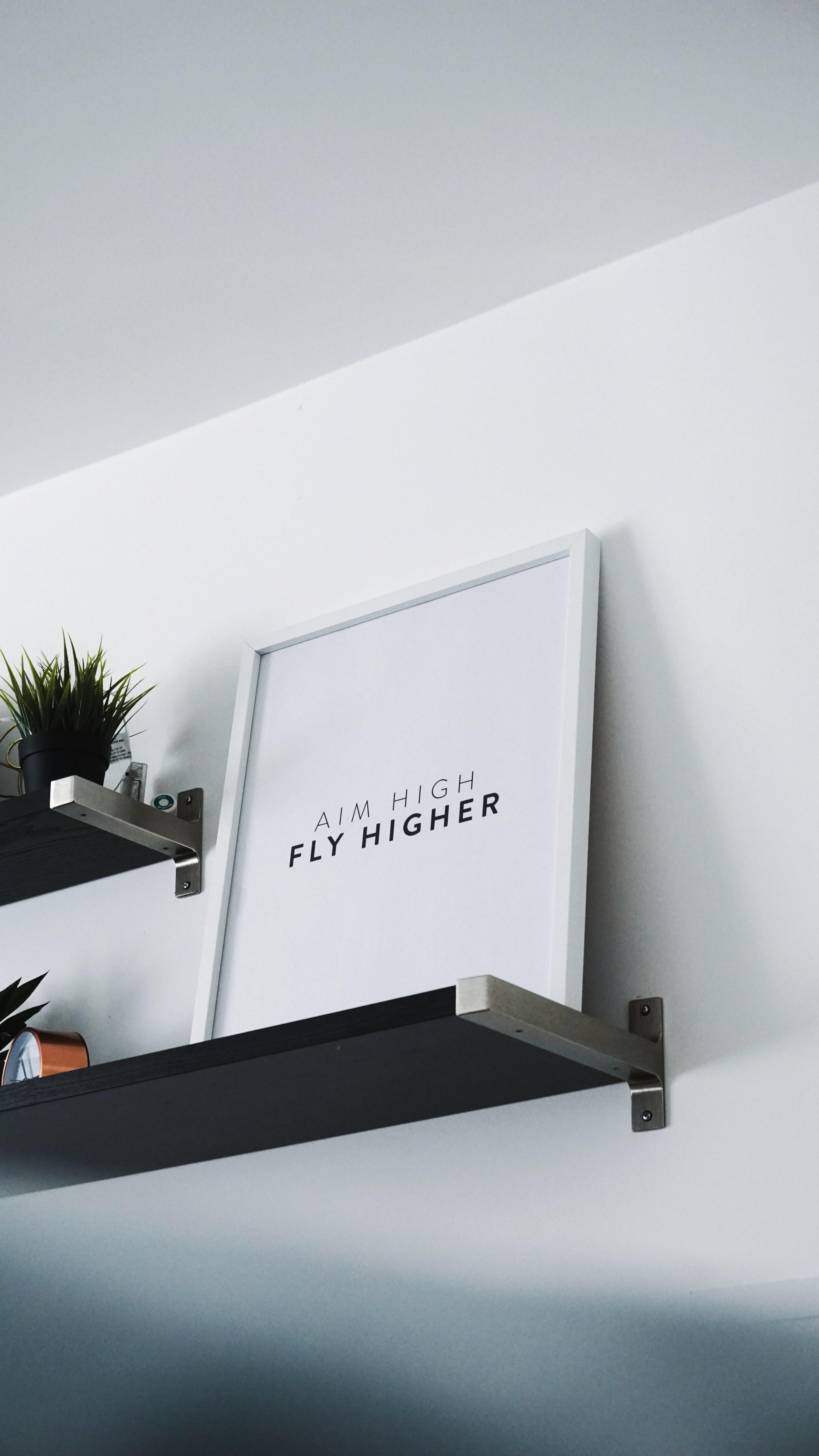 aim high fly higher photo frame