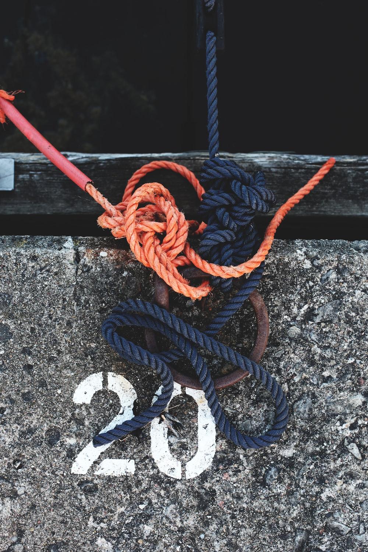 blue and orange ropes