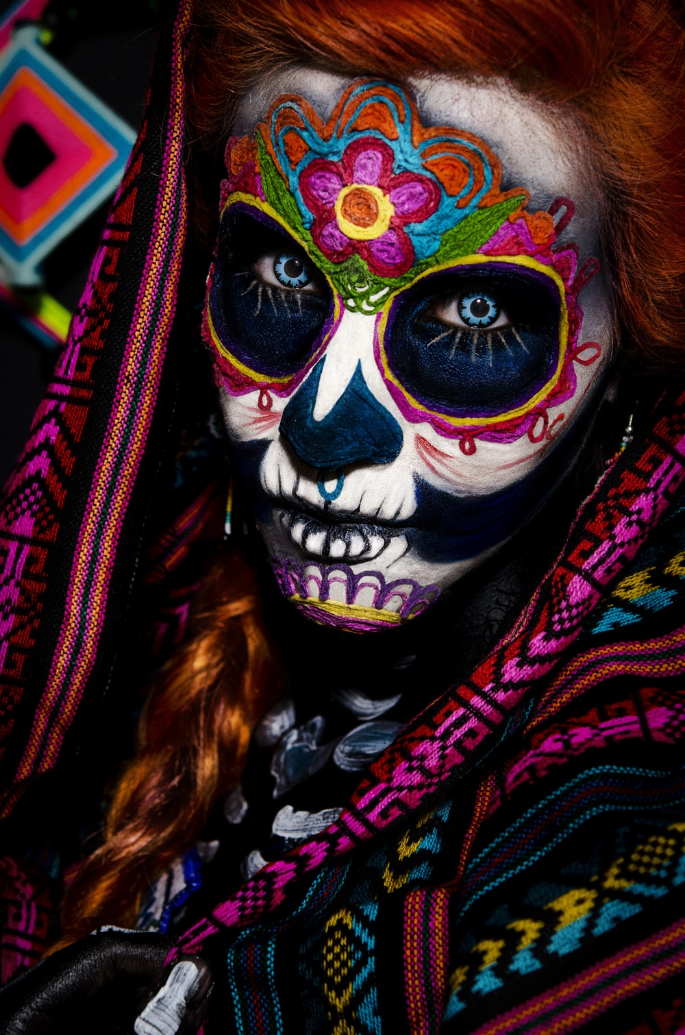 Muerte Face Painting Photo Free Mexico Image On Unsplash