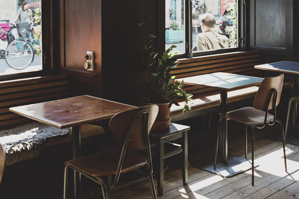 brown wooden chairs