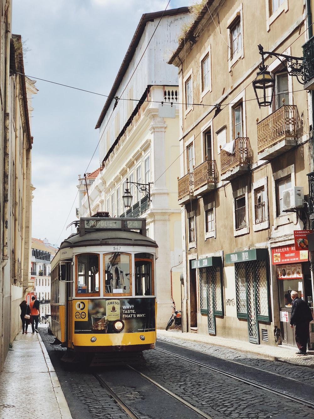 bus between buildings