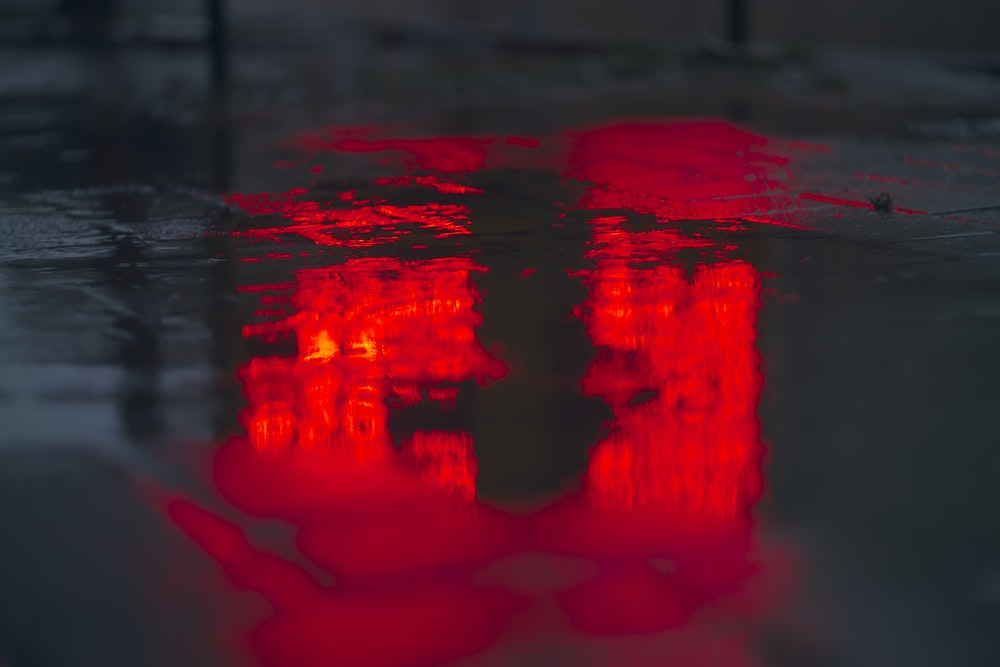 puddle on ground