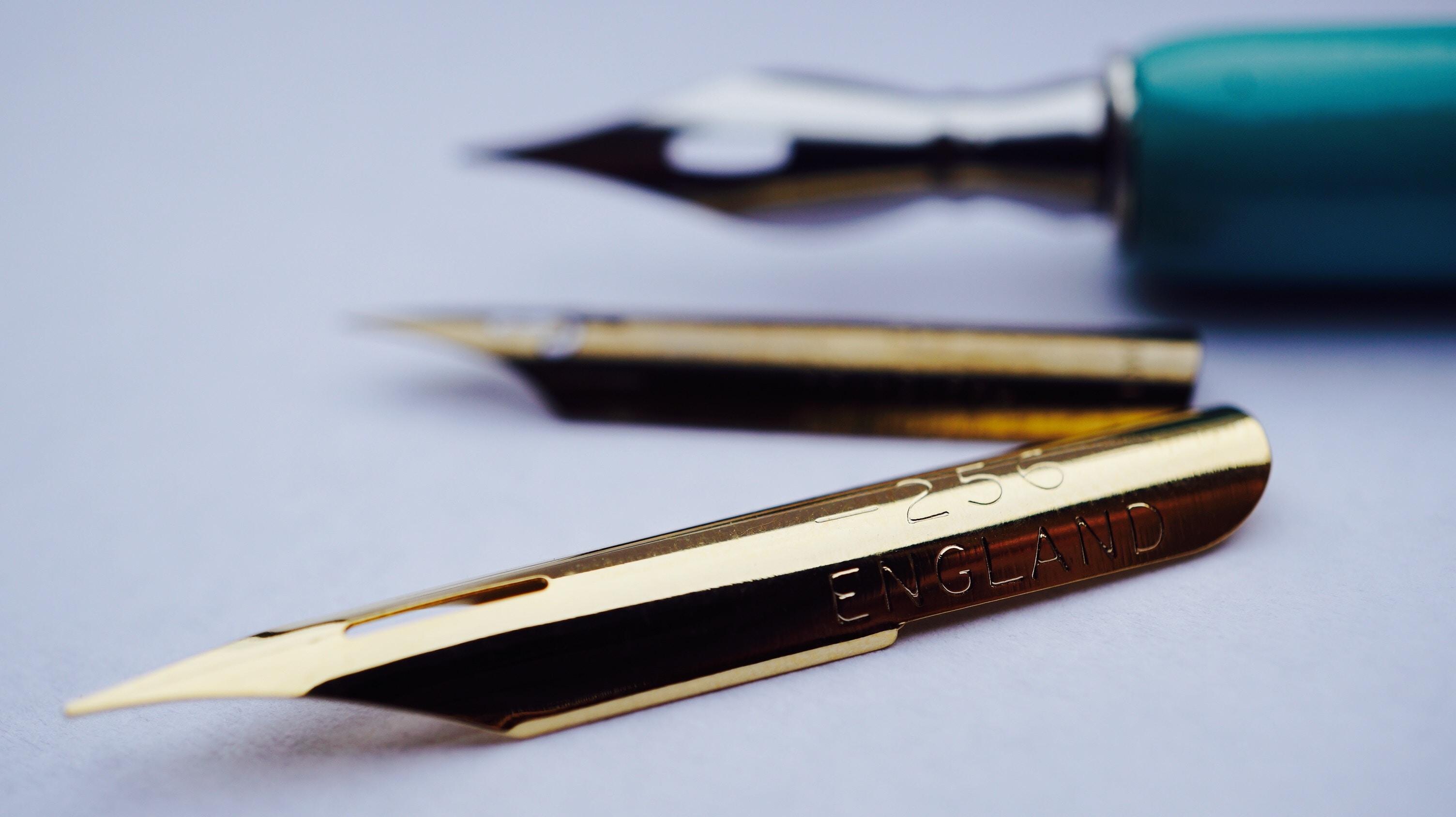 fountain pen point