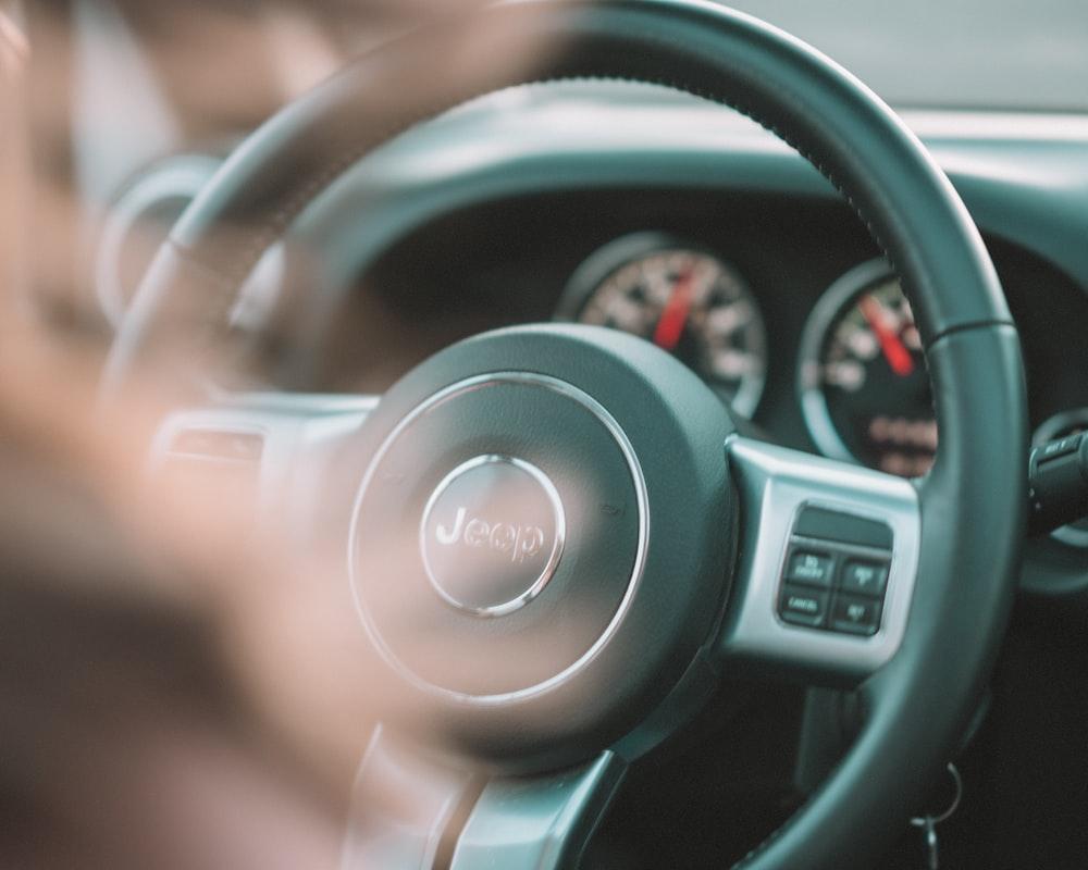 black Jeep steering wheel