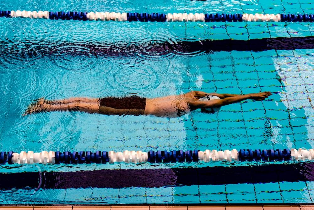 man doing swimming