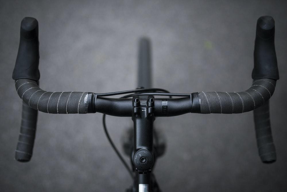 gray and black road bike