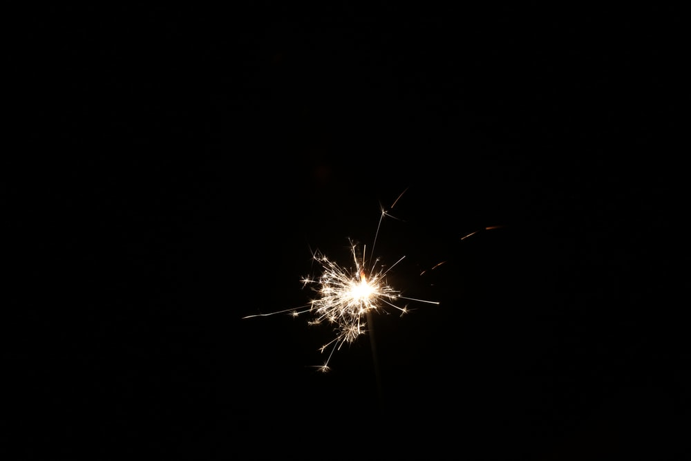 lighted sparkler