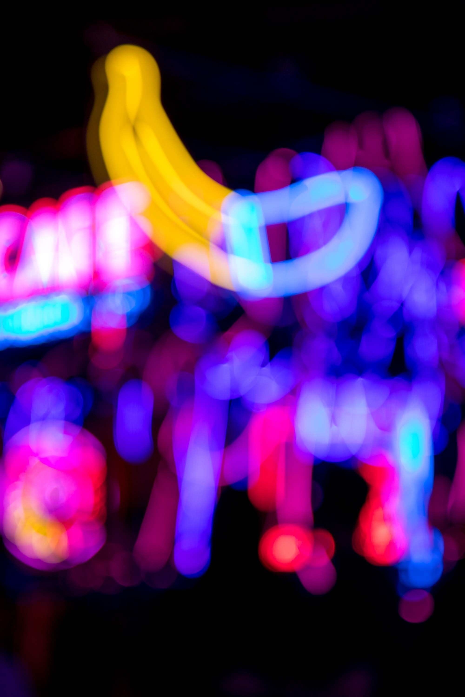 neon lights bokeh photography