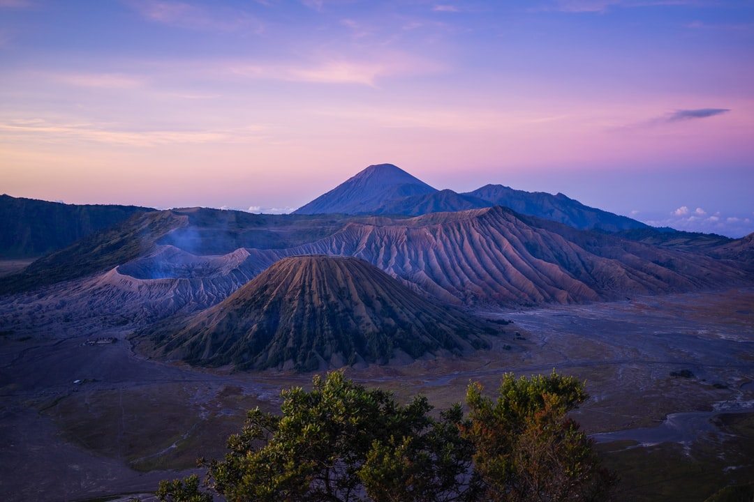 mountain near trees at daytime in Mount Bromo Indonesia