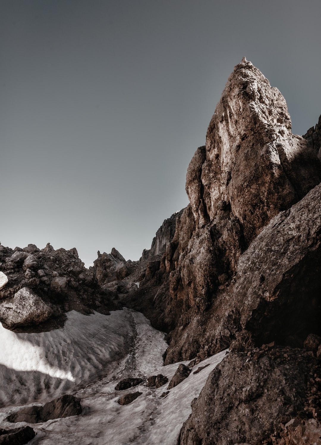 The way is slippery and dirty, rest of Sahara dust covers the path to the summit!