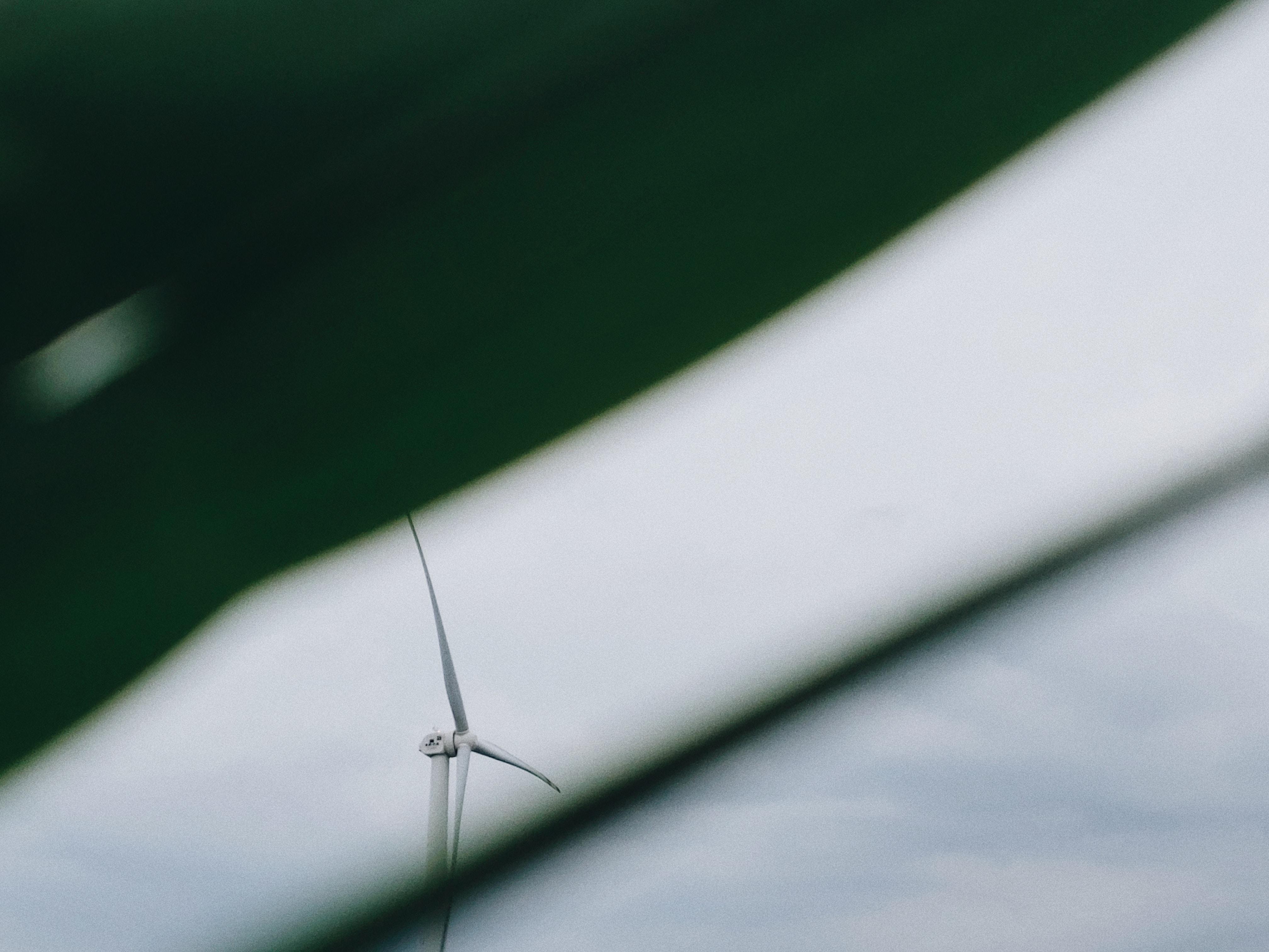white windmill at daytime