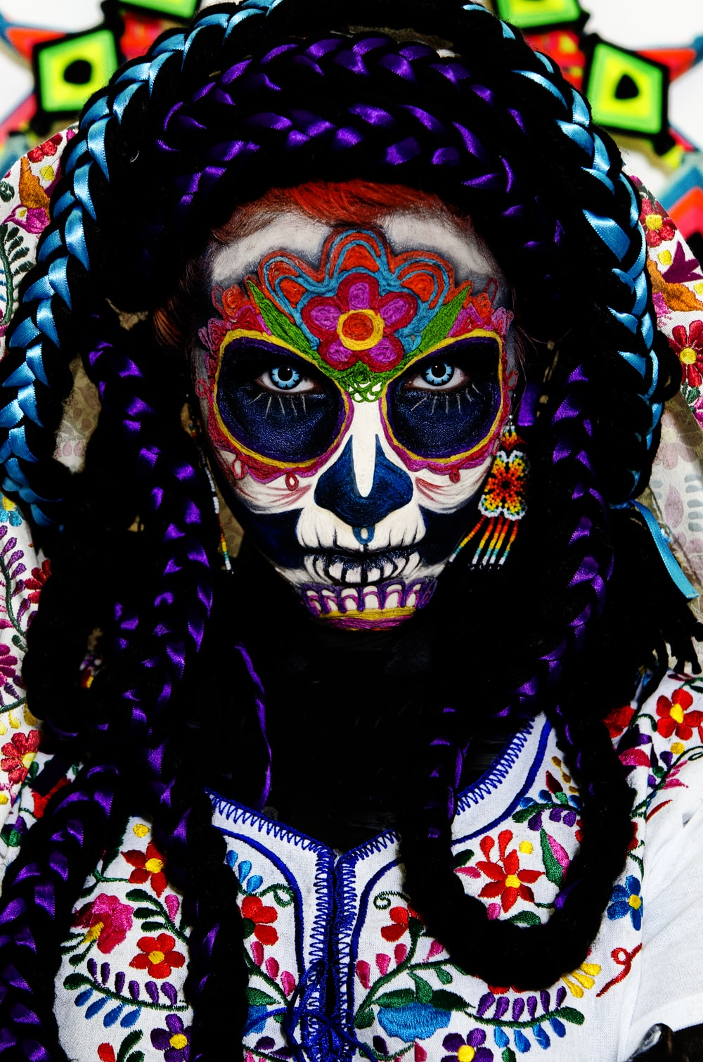 la muerte face paint wallpaper
