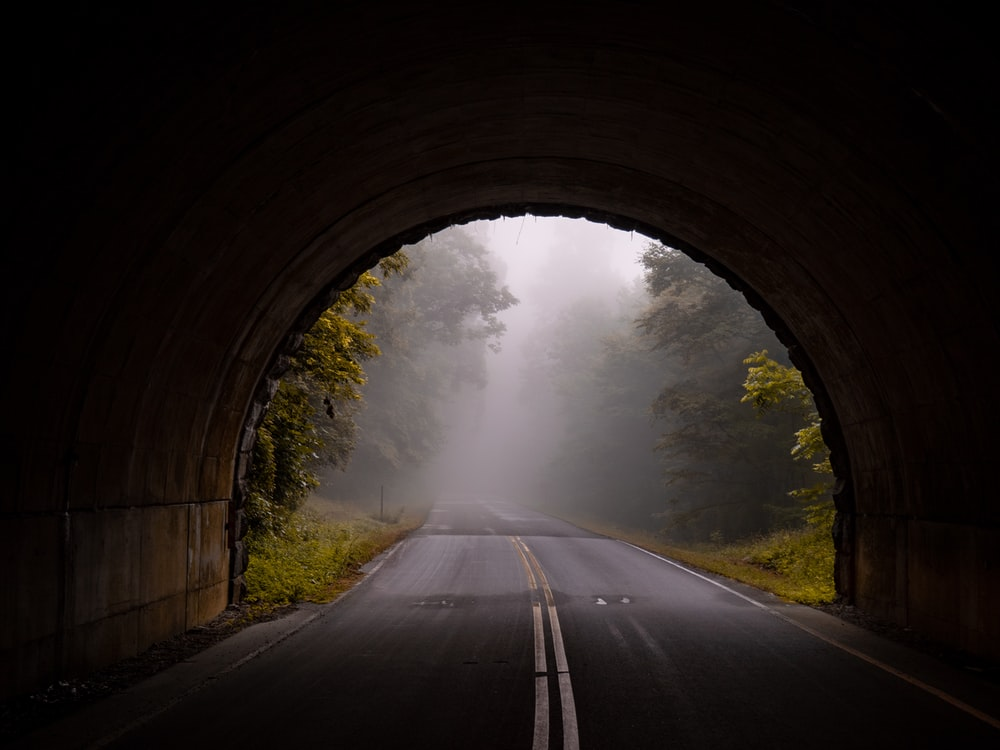 road tunnel wallpaper