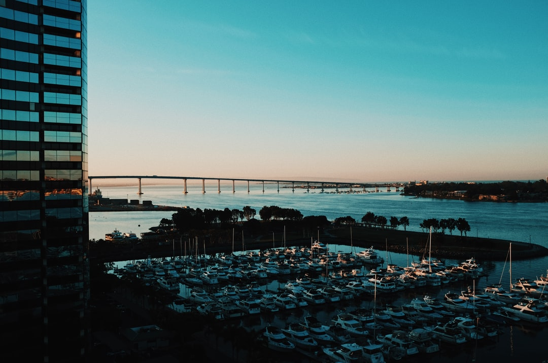 Sunset over San Diego Bay