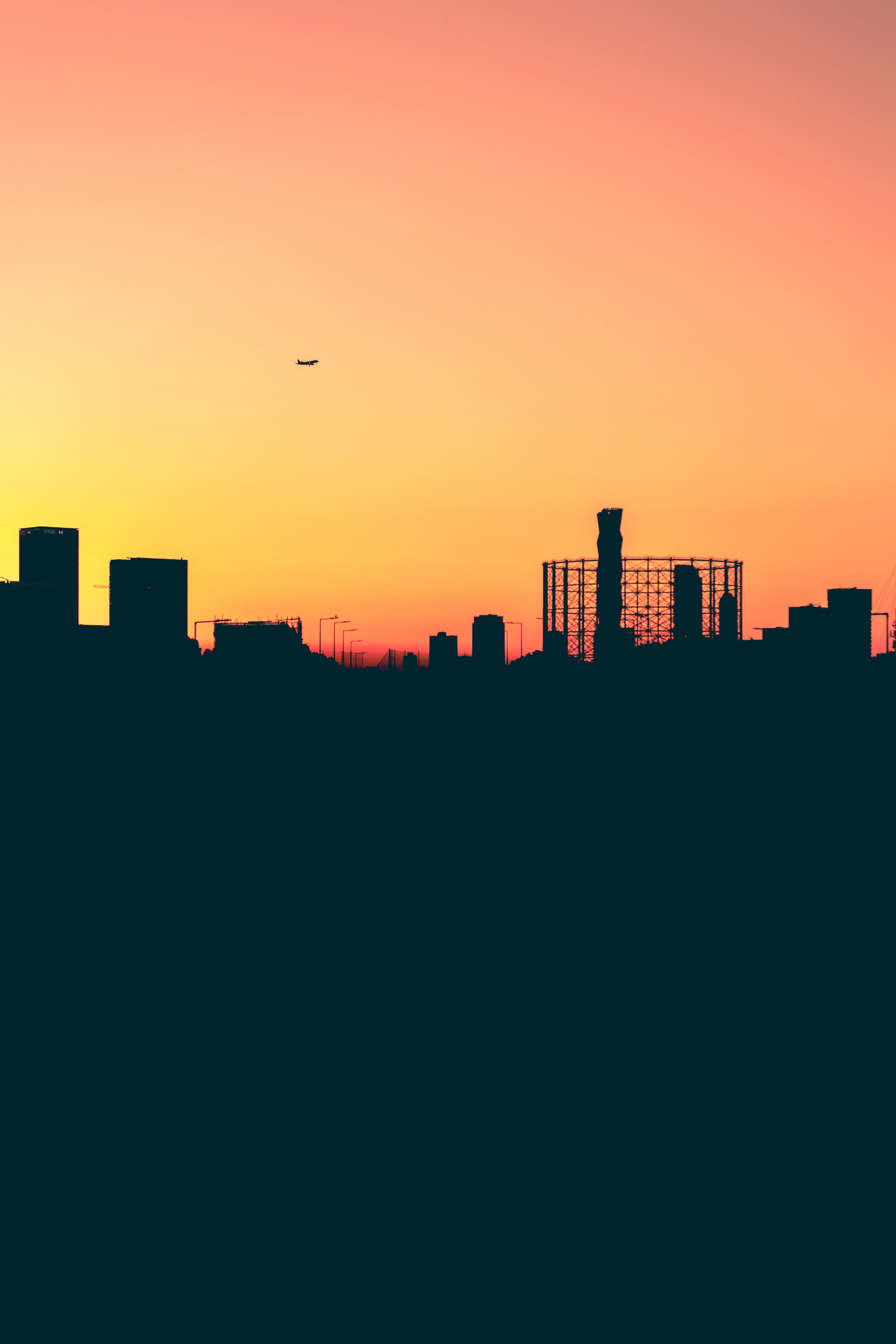 silhouette photo of buildings
