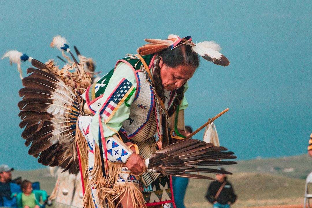 Lakota Native American Man at Pow Wow
