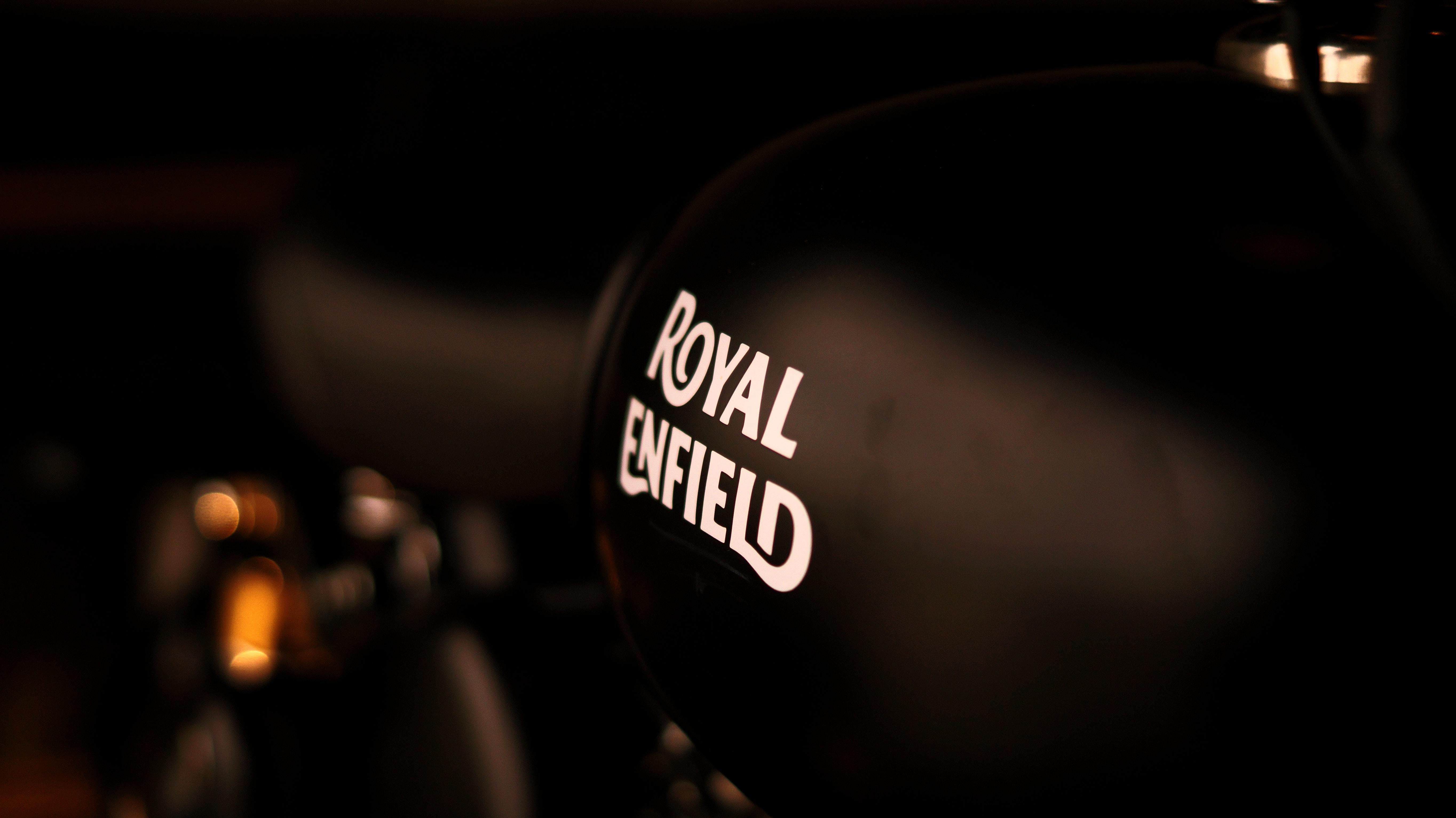 black Royal Enfield helmet