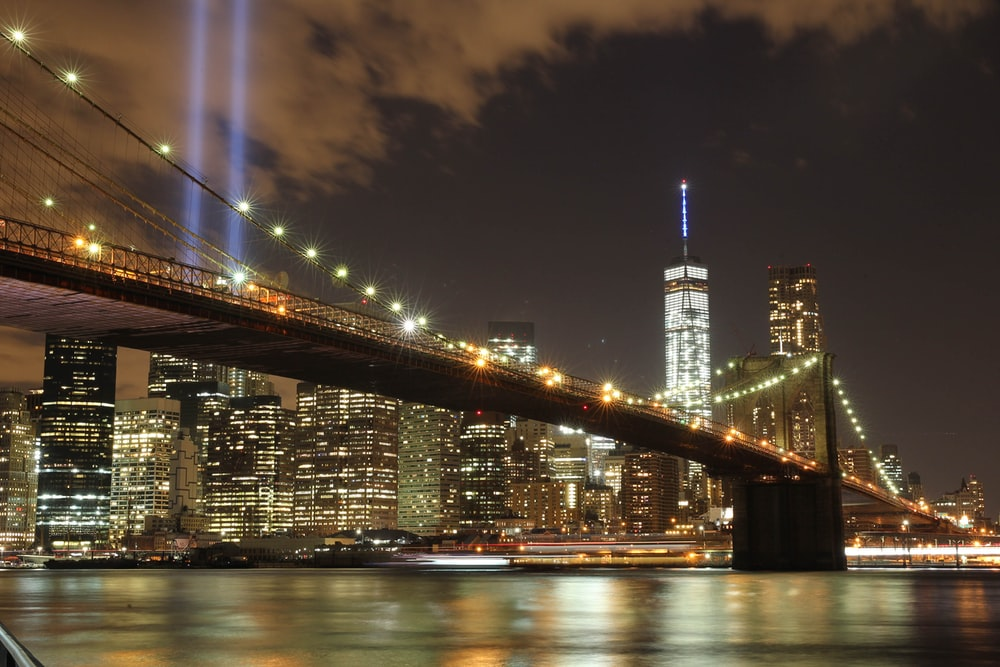 bridge with lights photography