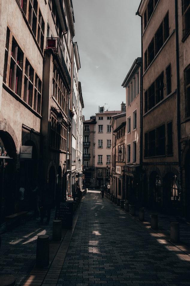 Alleyway in Lyon, France