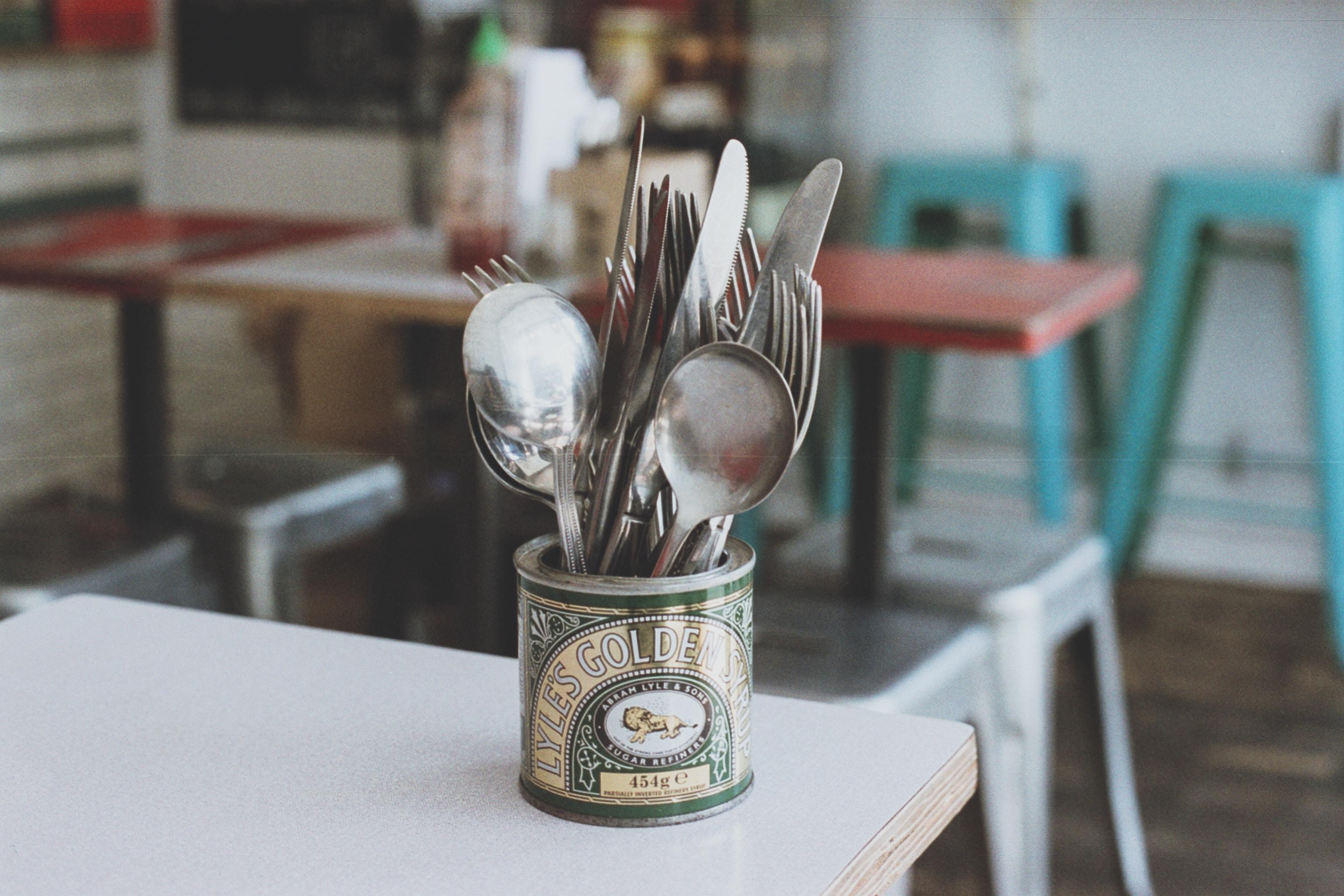silverware set on table