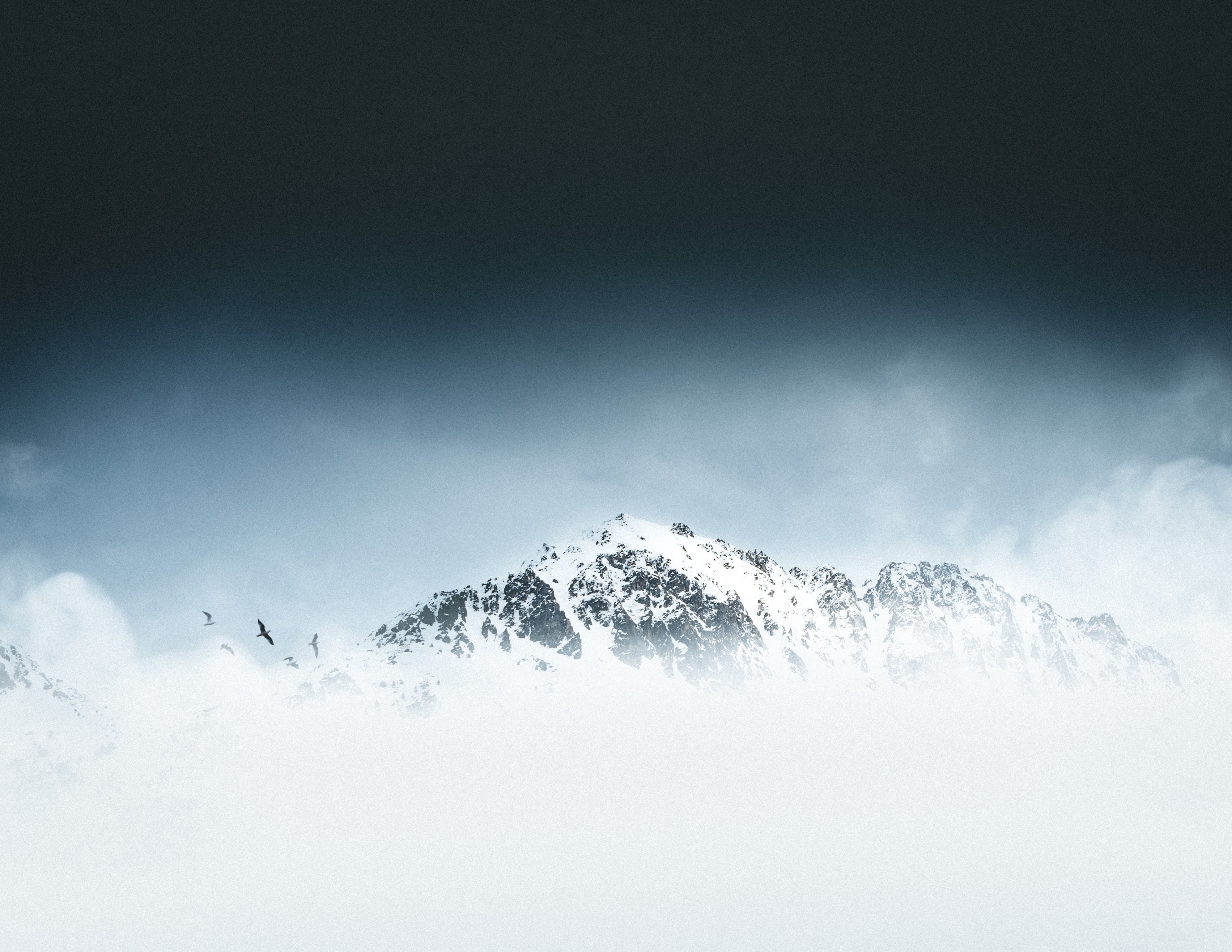 snow mountain in landscape photography