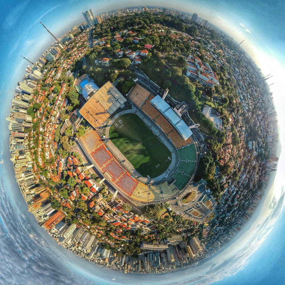 little planet photography of buildings