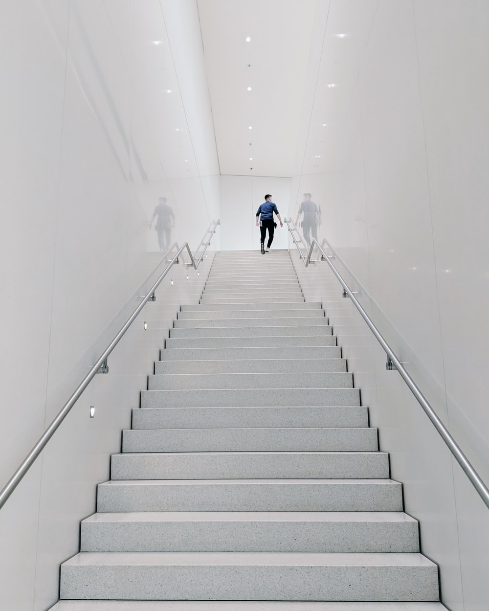 person climbing stairs