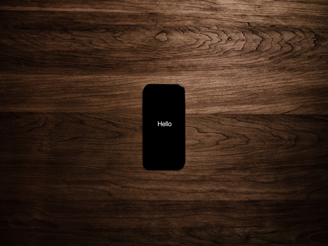 iPhone on wooden surface