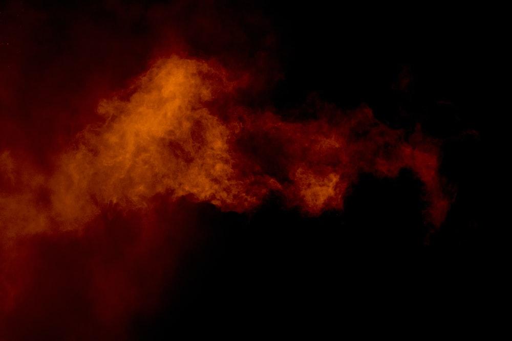brown smoke on black background